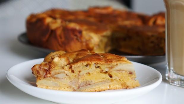 Obuolių migdolų pyragas
