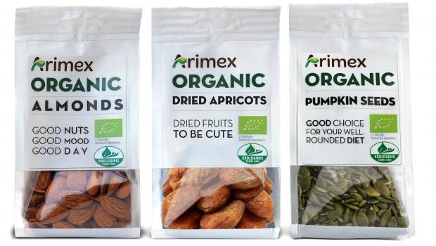 Organic Arimex riesutai ir džiovinti vaisiai